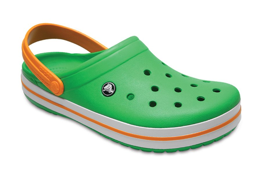 Crocs Crocband 11016 GRASS GREEN WHITE BLAZING - YesSport.cz 1e9a0733fb